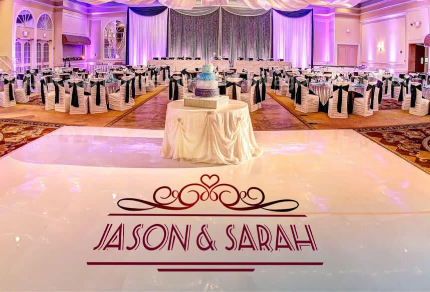 Custom Dance Floor Decals For Weddings, Events